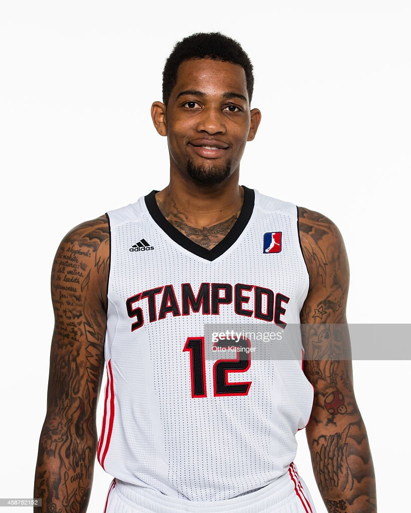 Joel Wright of the Idaho Stampede poses for a portrait during Media Day on November 9 2014 at CenturyLink Arena in Boise Idaho NOTE TO USER User...