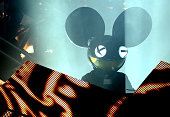 Joel Zimmerman aka Deadmau5 performs during the Pemberton Music and Arts Festival at on July 19 2014 in Pemberton British Columbia