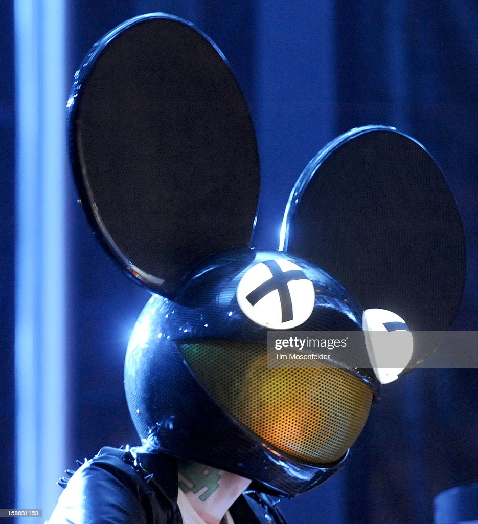 Joel Zimmerman aka Deadmau5 performs during the Snowglobe Music Festival at Lake Tahoe Community College on December 30, 2012 in South Lake Tahoe, CA.