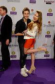 Joelina Drews and her boyfriend Marc Aurel Zeeb attends the Echo Award 2015 Red Carpet Arrivals on March 26 2015 in Berlin Germany