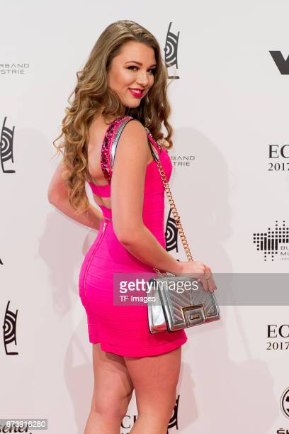 Joelina Drews on the red carpet during the ECHO German Music Award in Berlin Germany on April 06 2017