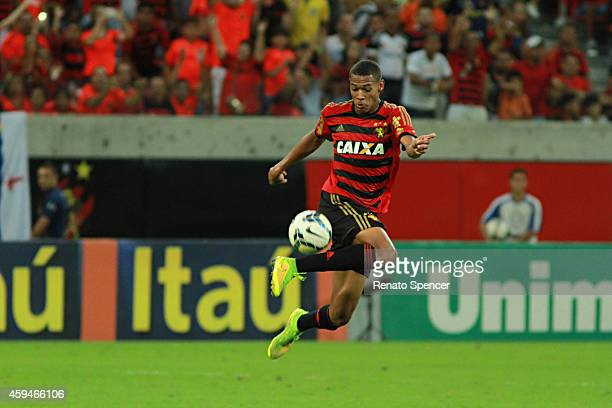 Joelinton of Sport Recife in action during the the Brasileirao Series A 2014 match between Sport Recife and Fluminense at Arena Pernambuco on...