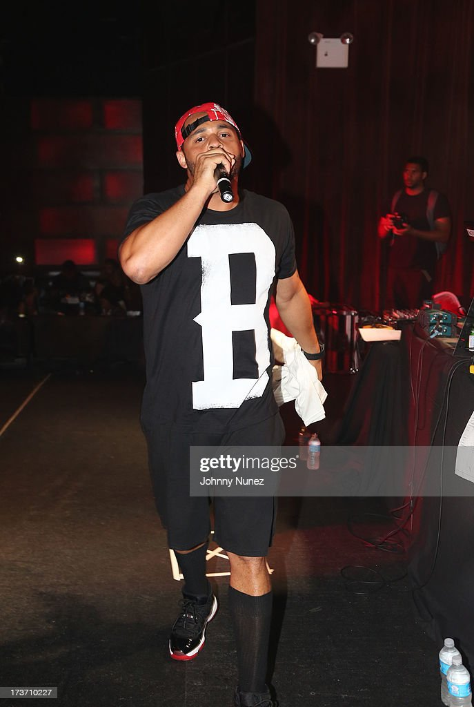 Joell Ortiz of Slaughterhouse performs at Highline Ballroom on July 16, 2013 in New York City.