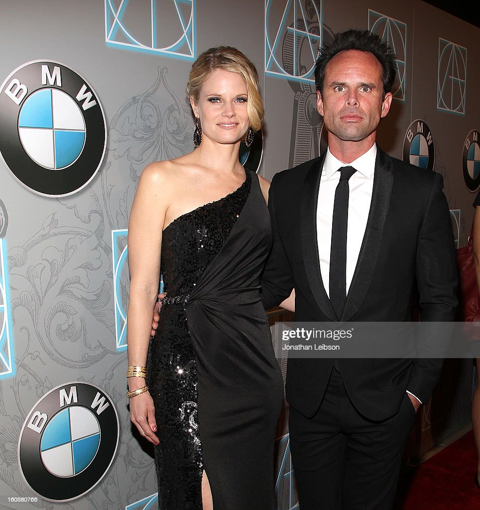 Joelle Carter and Walton Goggins arrive to the 17th Annual Art Directors Guild Awards For Excellence In Production Design presented by BMW at The Beverly Hilton Hotel on February 2, 2013 in Beverly Hills, California.