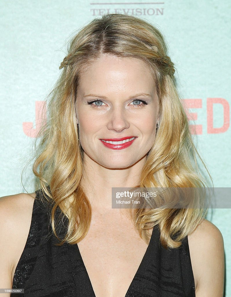 Joelle Carter arrives at season 4 premiere of FX's 'Justified' held at Paramount Theater on the Paramount Studios lot on January 5, 2013 in Hollywood, California.
