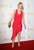 Joelle Carter arrives at The Television Academy presents An Evening with 'Justified' held at Leonard H Goldenson Theatre on March 19 2014 in North...
