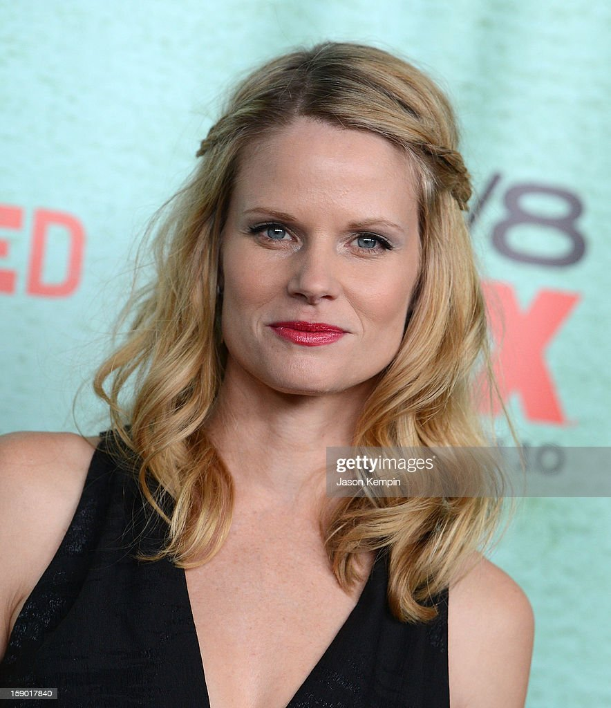 Joelle Carter attends the Premiere Of FX's 'Justified' Season 4 at Paramount Theater on the Paramount Studios lot on January 5, 2013 in Hollywood, California.