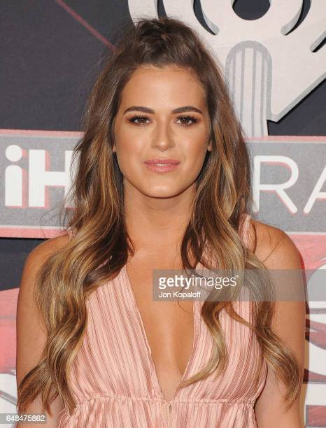 Joelle Fletcher arrives at the 2017 iHeartRadio Music Awards at The Forum on March 5 2017 in Inglewood California