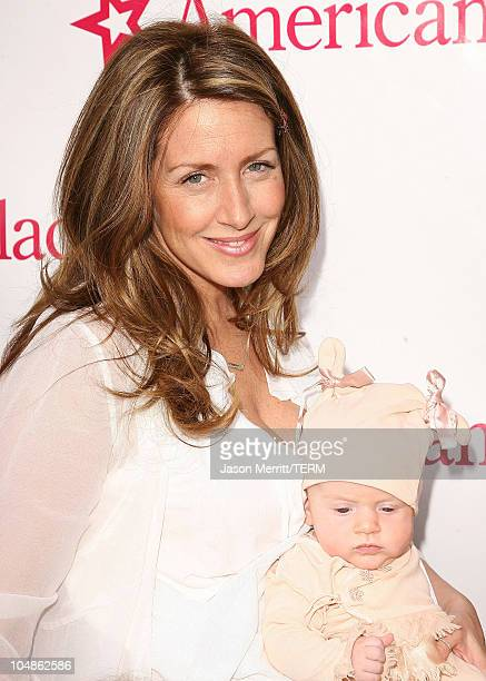 Joely Fisher and eightweekold True during American Girl Store Opening at the Grove in Hollywood Arrivals at The Grove in Hollywood California United...