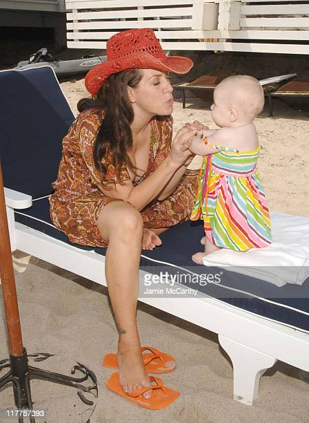 Joely Fisher during Mother's Day at the Beach Hosted by Joely Fisher at the Polaroid Beach House at Polaroid Beach House in Malibu California United...