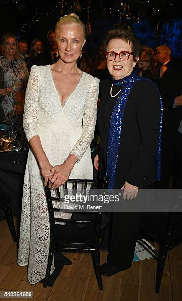 Joely Richardson and Billie Jean King attend the Summer Gala for The Old Vic at The Brewery on June 27 2016 in London England
