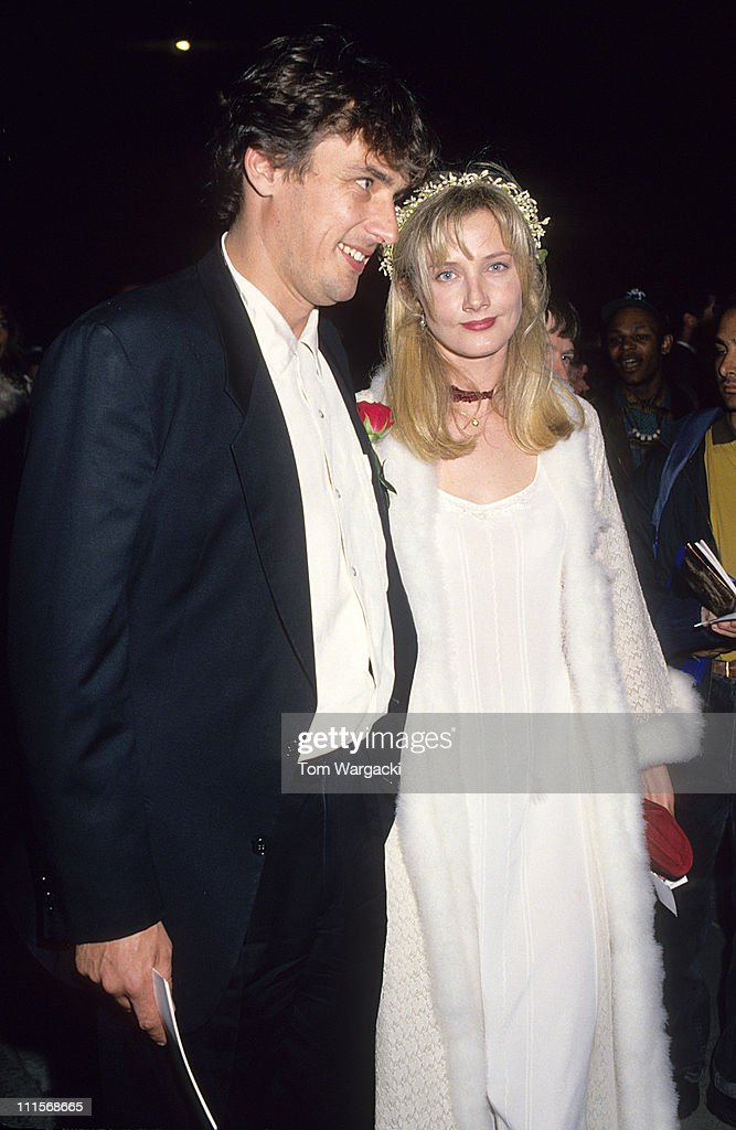 Joely Richardson and Tim Bevan during 'Four Weddings and a Funeral' London Premiere at Leicester Square in London Great Britain