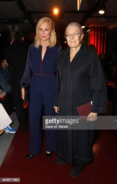 Joely Richardson and Vanessa Redgrave attend the Roksanda show during the London Fashion Week February 2017 collections on February 20 2017 in London...