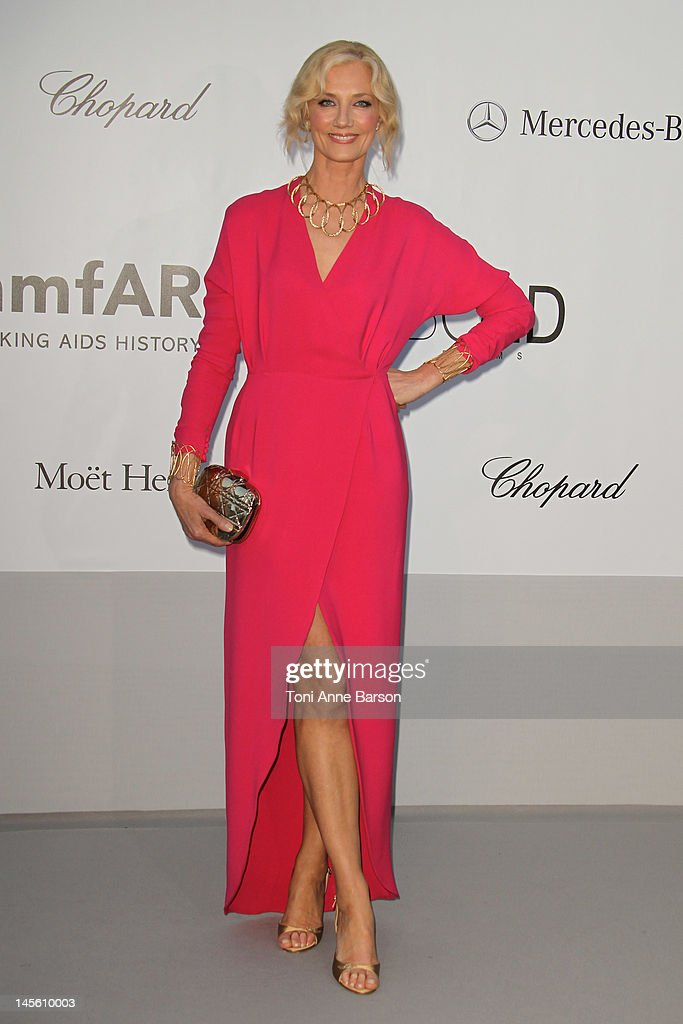 Joely Richardson arrives at amfAR's Cinema Against AIDS at Hotel Du Cap on May 24, 2012 in Antibes, France.