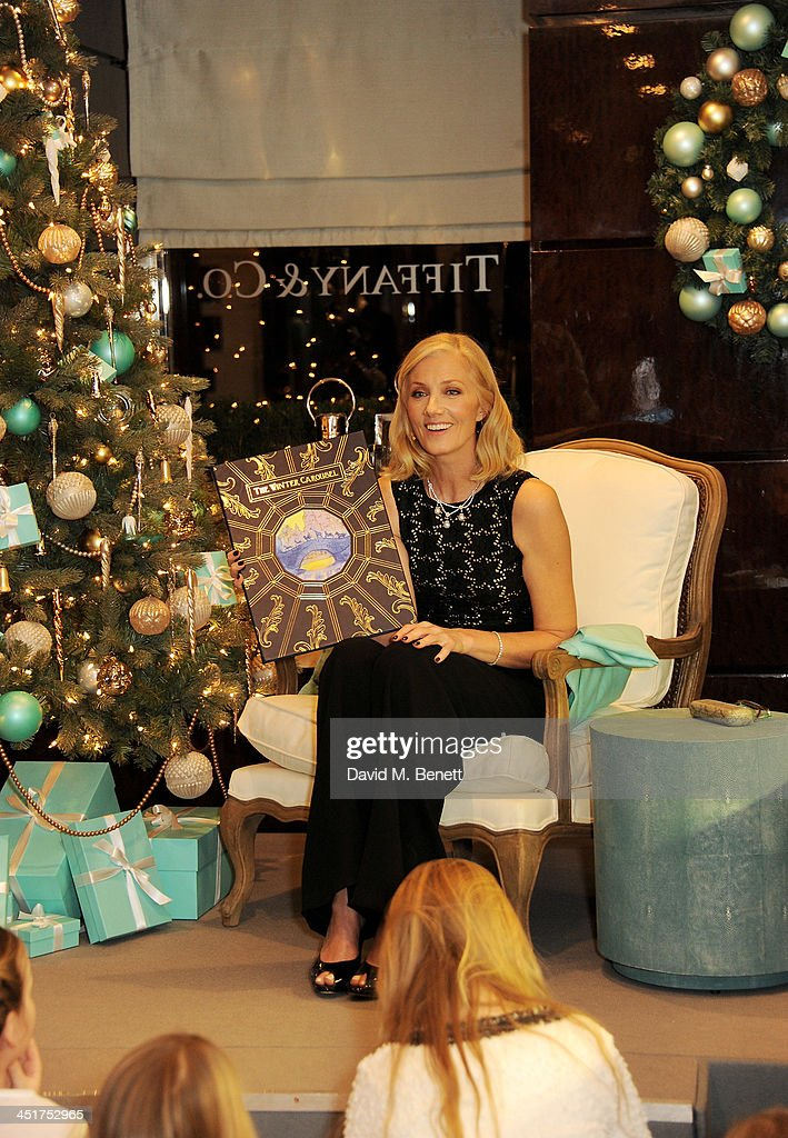 Joely Richardson as Joely Richardson officially opens the Tiffany & Co. Christmas Shop on Bond Street, London on November 24, 2013 in London, England.