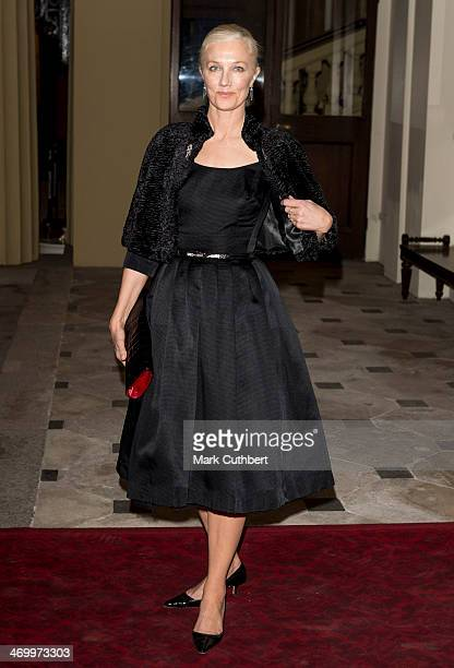 Joely Richardson attends a Dramatic Arts Reception at Buckingham Palace on February 17 2014 in London England