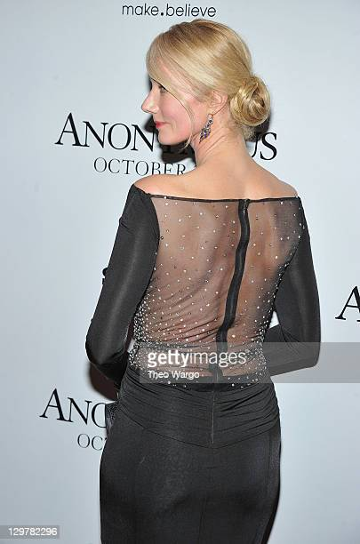 Joely Richardson attends the 'Anonymous' screening at The Museum of Modern Art on October 20 2011 in New York City