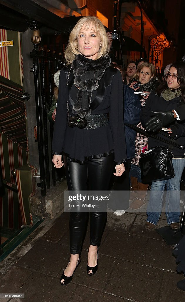 <a gi-track='captionPersonalityLinkClicked' href=/galleries/search?phrase=Joely+Richardson&family=editorial&specificpeople=201859 ng-click='$event.stopPropagation()'>Joely Richardson</a> attends the Charles Finch and Chanel pre-BAFTA dinner at Annabels on February 9, 2013 in London, England.