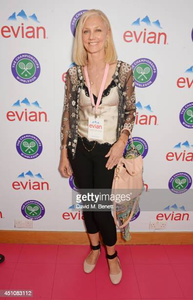 Joely Richardson attends the evian Live Young suite on the opening day of Wimbledon at the All England Lawn Tennis and Croquet Club on June 23 2014...