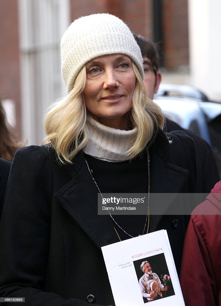 Joely Richardson attends the funeral of actor Roger Lloyd-Pack at St Paul's Church on February 13, 2014 in London, England.