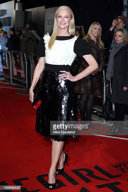 Joely Richardson attends 'The Girl With The Dragon Tattoo' world premiere at Odeon Leicester Square on December 12 2011 in London England