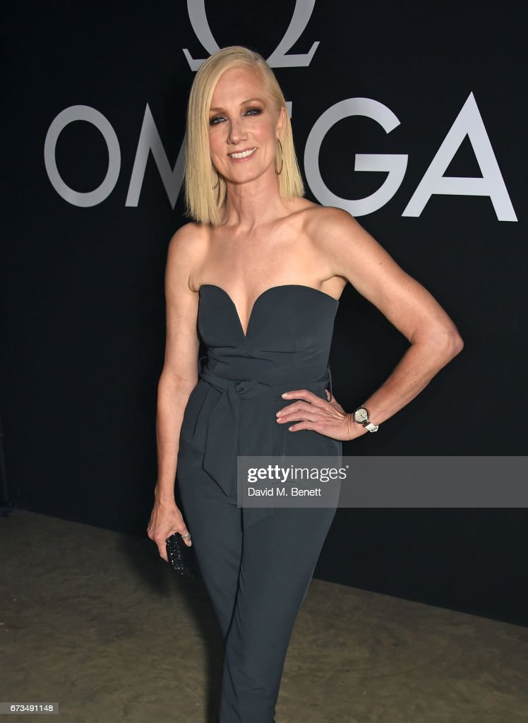 Joely Richardson attends the OMEGA 'Lost In Space' dinner to celebrate the 60th anniversary of the OMEGA Speedmaster, which has been worn by every piloted NASA mission since 1965, at Tate Modern on April 26, 2017 in London, England.