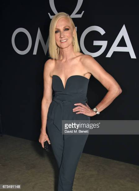 Joely Richardson attends the OMEGA 'Lost In Space' dinner to celebrate the 60th anniversary of the OMEGA Speedmaster which has been worn by every...