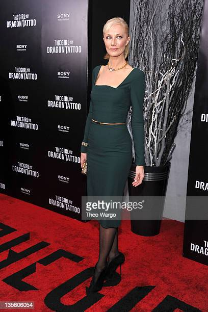 Joely Richardson attends the 'The Girl With the Dragon Tattoo' New York premiere at Ziegfeld Theater on December 14 2011 in New York City
