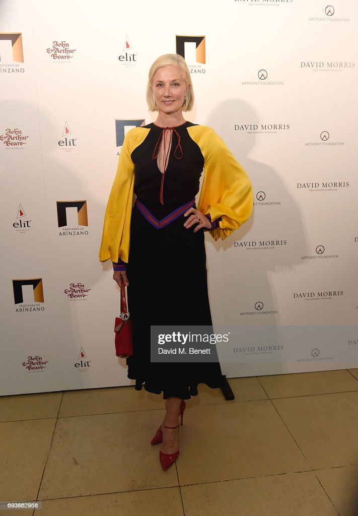 Joely Richardson attends the World of Stradivari gala hosted by David Morris at Spencer House in aid of ArtPoint Foundation on June 8, 2017 in London, England.