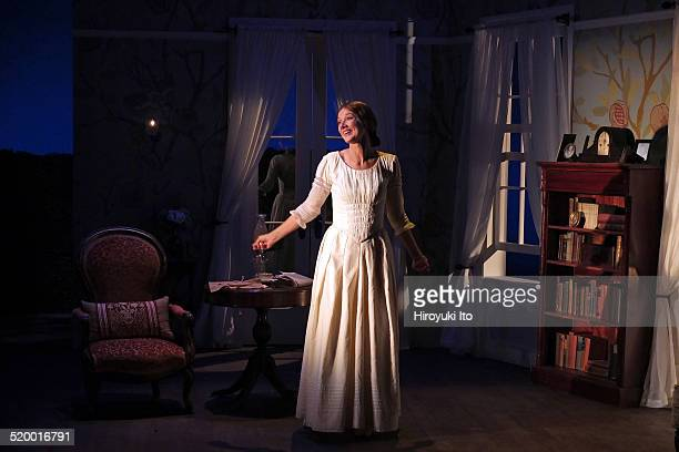 Joely Richardson plays Emily Dickinson in 'The Belle of Amherst' written by William Luce and directed by Steve Cosson at Westside Theater on Monday...