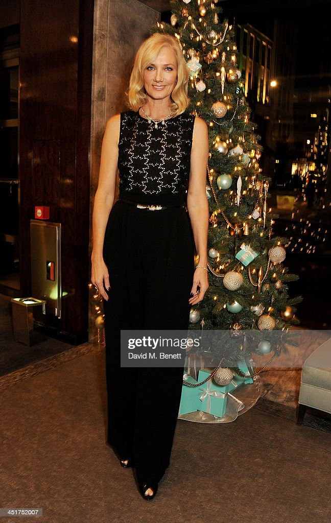 <a gi-track='captionPersonalityLinkClicked' href=/galleries/search?phrase=Joely+Richardson&family=editorial&specificpeople=201859 ng-click='$event.stopPropagation()'>Joely Richardson</a> poses as she officially opens the Tiffany & Co. Christmas Shop on Bond Street, London on November 24, 2013 in London, England.