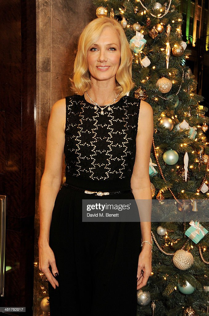 Joely Richardson poses as she officially opens the Tiffany & Co. Christmas Shop on Bond Street, London on November 24, 2013 in London, England.