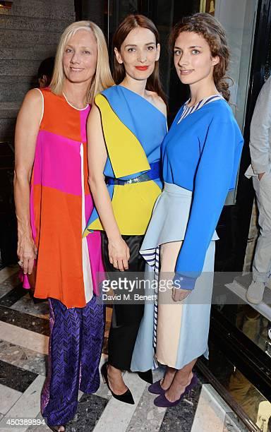 Joely Richardson Roksanda Ilincic and Daisy Bevan attend the opening of Roksanda on Mount Street on June 10 2014 in London England