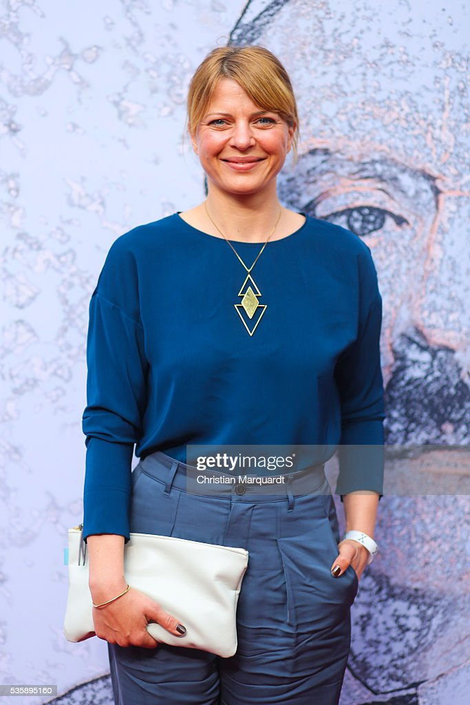 Joerdis Triebel attends the movie premiere of 'Vor der Morgenroete - Bevore Dawn' at Delphi Palace on May 30, 2016 in Berlin, Germany.