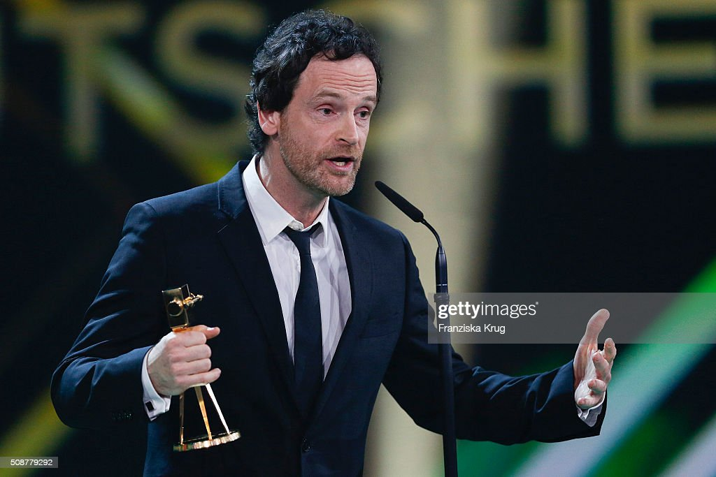 Joerg Hartmann wins the award for Best German Actor during the Goldene Kamera 2016 show on February 6, 2016 in Hamburg, Germany.