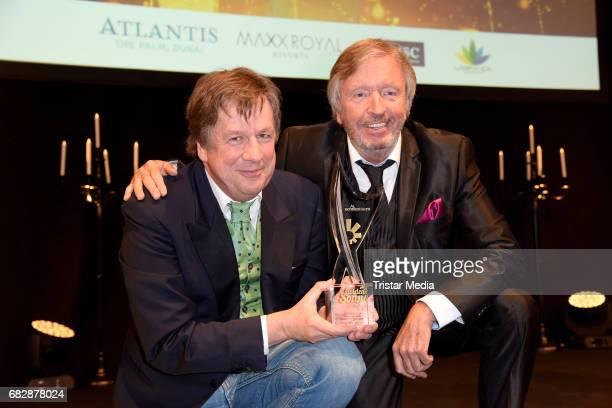 Joerg Kachelmann and Werner Schulze Erdel attend the 'Goldene Sonne 2017' Award by SonnenklarTV on May 13 2017 in Kalkar Germany