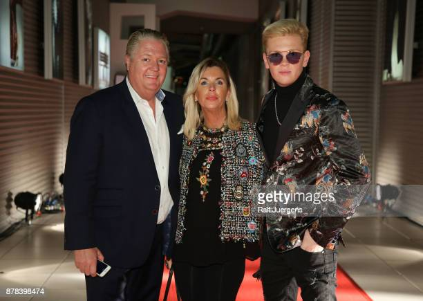 Joerg Loewentraut and Heike Loewentraut accompany her son Leon Loewentraut during the 22nd RTL Telethon on November 23 2017 in Huerth Germany