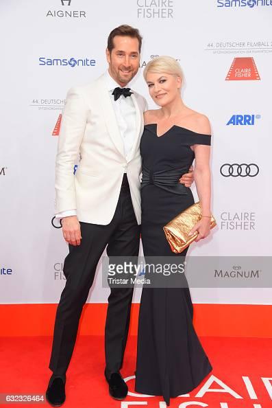Joerg Oppermann and opera singer Kriemhild Siegel attend the German Film Ball 2017 at Hotel Bayerischer Hof on January 21 2017 in Munich Germany