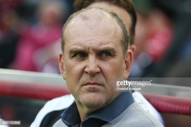 Joerg Schmadtke sporting director of Koeln during the Bundesliga match between 1 FC Koeln and Eintracht Frankfurt at RheinEnergieStadion on September...
