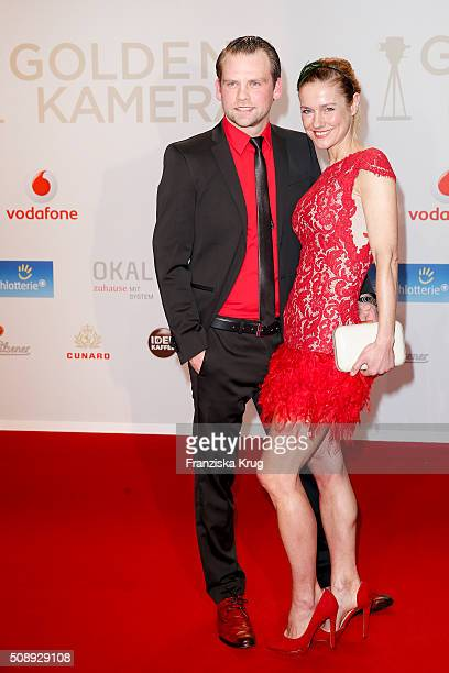 Joerg Vennewald and Rhea Harder attend the Goldene Kamera 2016 on February 6 2016 in Hamburg Germany