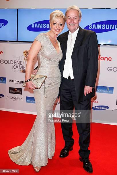 Joerg Wontorra and Heike Wontorra attend the Goldene Kamera 2015 on February 27 2015 in Hamburg Germany