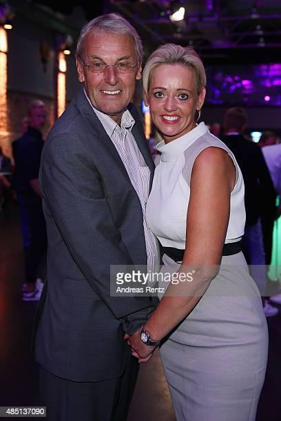 Joerg Wontorra and Heike Wontorra attend the 'RTL Wir helfen Kindern' Golf Charity 2015 reception on August 24 2015 in Gummersbach Germany