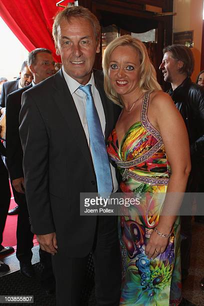 Joerg Wontorra and his wife Heike attend the Day of Legends gala Night of Legends at the Schmitz Tivoli theatre on September 5 2010 in Hamburg Germany
