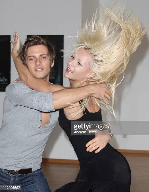 Joern Schloenvoigt and dancing partner Helena Kaschurow train for 'Let's Dance' TV Show at the 'Die Tanz Etage' dancing school on March 18 in Berlin...