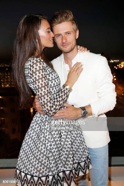 Joern Schloenvoigt and Hanna Weig attend the Remus Lifestyle Night on August 3 2017 in Palma de Mallorca Spain