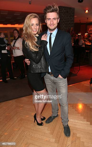 Joern Schloenvoigt and his girlfriend Syra Feiser during the birthday celebration of Maren Gilzer's 55th birthday on February 4 2015 in Berlin...