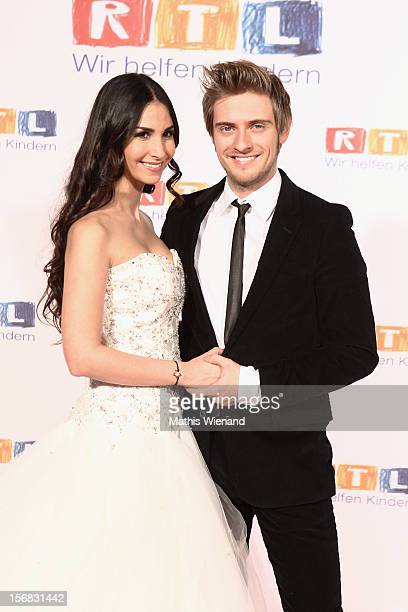 Joern Schloenvoigt and Sila Sahin attend the 'RTL Spendenmarathon' to auction off the original dress from their wedding in the RTL show 'GZSZ' At RTL...