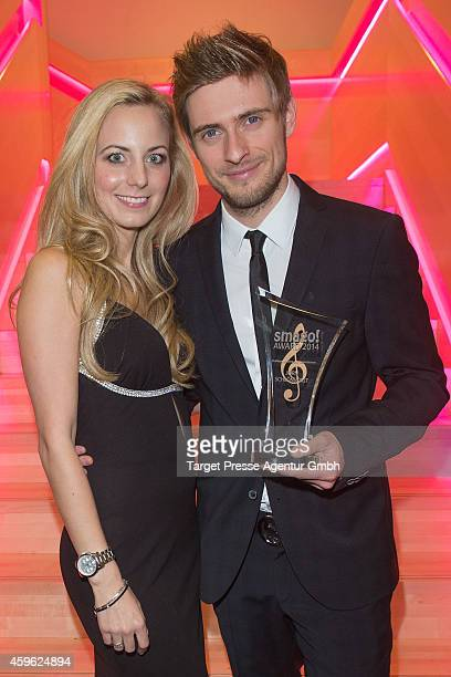 Joern Schloenvoigt and Syra Feiser attend the Smago Award 2014 at Best Western MOA Hotel on November 26 2014 in Berlin Germany