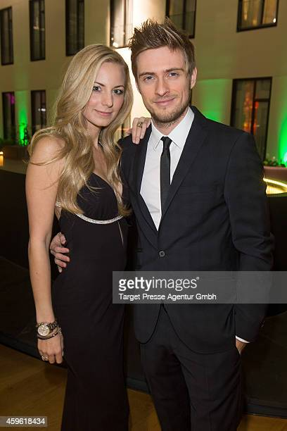Joern Schloenvoigt and Syra Feiser attends the Smago Award 2014 at Best Western MOA Hotel on November 26 2014 in Berlin Germany