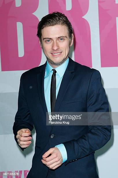 Joern Schloenvoigt attends the German premiere of 'Spring Breakers' at the cinestar Potsdamer Platz on February 19 2013 in Berlin Germany